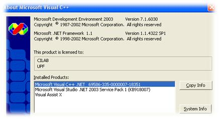 Visual Studio 2003 with SP1